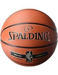 Spalding Uni NBA Silver Outdoor SZ.5(83–568z) Basketball, Arancione, 5.0