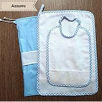 Crociedelizie, Set asilo da ricamare punto croce 3 pezzi bavaglino sacca asciugamano salvietta in tela aida