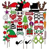 Starcrafter 50 Stücke Photo Booth Set Christmas Kreative Maske Photo Booth Requisiten für Hochzeits Partei Dekorationen