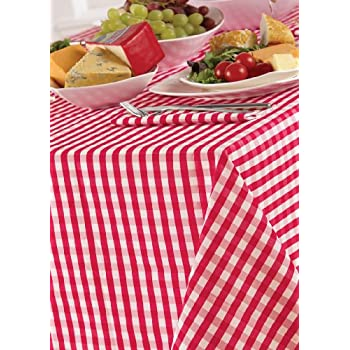 Country Look Gingham Cherry 52x70in (132x178cm) Oblong Tablecloth
