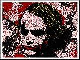 imagenation Toile encadrée Motif Batman The Joker Words'- 60 cm X 80 cm) imprimée sur Repositional auto-adhésive-Poster-Papier peint