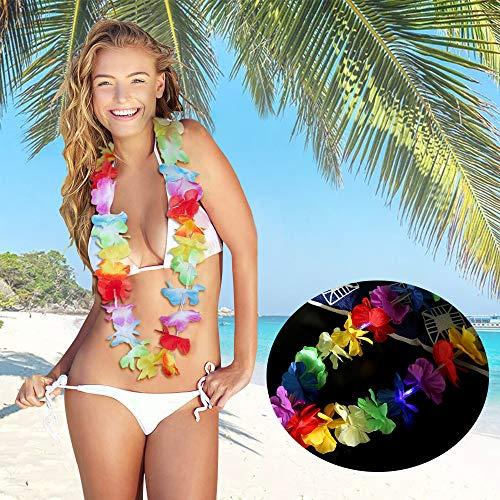TAOtTAO LED Hawaiian Lei Hula Leuchten Blumengirlanden Halskette -