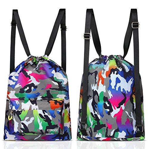 COPOZZ Wasserdicht Packsack Rucksack Dry Bag, Leich Packsäcke Turnhalle Sport Tasche Schwimmtasche für Outdoor Sportarten Schwimmen Tauchen Segeln Angeln Yoga Kajak Rafting Segeln Camping Boot Kanu