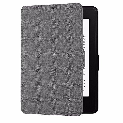 EasyAcc Hülle für Kindle Paperwhite , Die dünnste und Leichteste Schutzhülle Smartshell Case Mit Sleep / Wake up Funktion Kompatibel mit Alle Kindle Paperwhite für Alle Vorgängermodelle von 2012, 2013, 2014 und 2019 - Grau