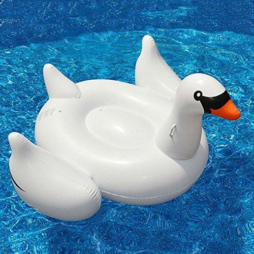lasbares Schwan Schwimmer- Floatie Ride on Rideable Blow up Sommer Spaß Pool Spielzeug Liege Floatie Raft für Kinder & Erwachsene (Swan) ()