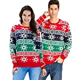 Goodstoworld Pullover Noel Femme Homme Pull Ugly Sweater Christmas Col Rond Pulls Moche Noël Sweat Xmas Jumper