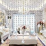 Starsglowing 5Pcs 1M Kristall Perlen Girland Octagon Bead Garland Anhänger Hochzeit House Office Dekoration Partei Dekor (Mit Kristall Diamant)
