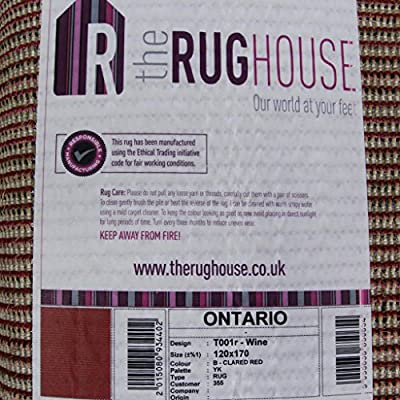 Soft Thick Luxury Wine Shaggy Rug 9 Sizes Available - low-cost UK rug shop.