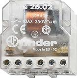 Finder 260880120000PAS - Telerruptor/conmutador encastrable 4 secuencias 2 NA - AC (50Hz) - 12 V45 x 22 x 47 cm transparente