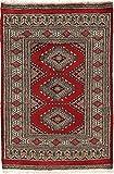 CarpetVista Pakistan Buchara 2ply Teppich 60x96 Orientteppich