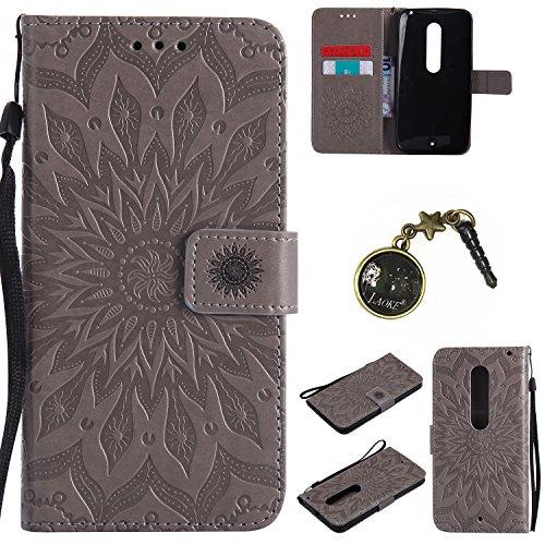 Preisvergleich Produktbild für Moto X Style Hülle,Hochwertige Kunst-Leder-Hülle mit Magnetverschluss Flip Cover Tasche Leder [Kartenfächer] Schutzhülle Lederbrieftasche Executive Design +Staubstecker (2GG)