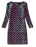 Womens Long Sleeve Floral Print Tunic Mini Dress Plus Size 8-18