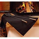 Firemat Black Edition (146x100cm) Feuerfestes Universal Schutztuch ,Die Brandschutz- und Sicherheitsunterlage, Bescheinigt nach DIN EN ISO 11925-2 , geeignet für Kaffeemaschinen,Induktionsherd uvm.. (Hitzebeständig bis 300 Grad)