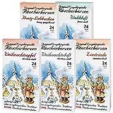 5 Päckchen Knox Räucherkerzen - Waldduft, Honig-Lebkuchen, Weihnachtsapfel, Weihnachtsduft, Zimtrinde.
