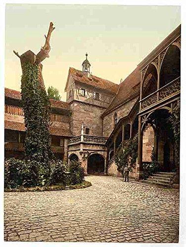 The Castle court Nuremberg Bavaria A3 Box Canvas Print Castle Court Castle