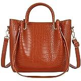 POPOTI Bolsos Mano Mujeres, Bolsos de Hombro Cuero Bolso de Mensajero Messenger Crossbody Bag Nuevos Bolsillos de Compras Ele