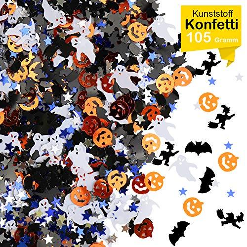 Hexe Halloween Dekorationen - GIANOLUC Halloween Dekoratives Konfetti, Kürbis, Fledermaus,