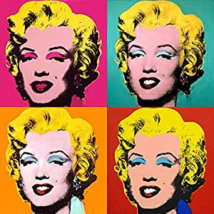 Ocher Art Canvas Marilyn Monroe Poster (30x30-inch ...
