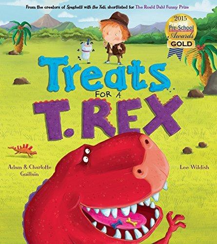 Portada del libro Treats for a T. Rex (George's Amazing Adventures) by Adam Guillain (2016-11-01)