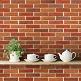 #7: DeStudio 'Bricks Old Red' Wallpaper Sticker