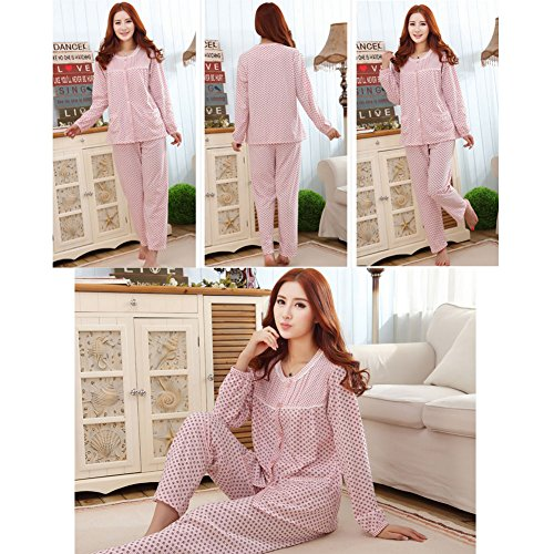 Pyjama à manches longues Ensemble de nuit plein de couleurs