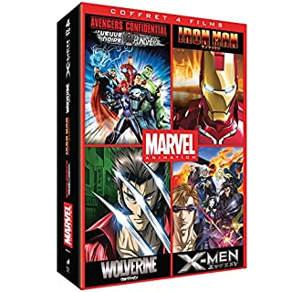 Marvel Animés-Coffret: Iron Man + Wolverine + X-Men + Avengers Confidential