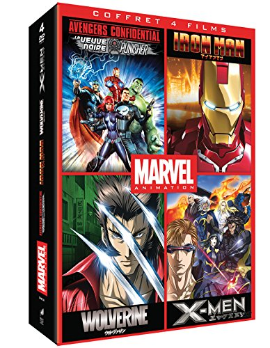 Marvel Animés - Coffret: Iron Man + Wolverine +...