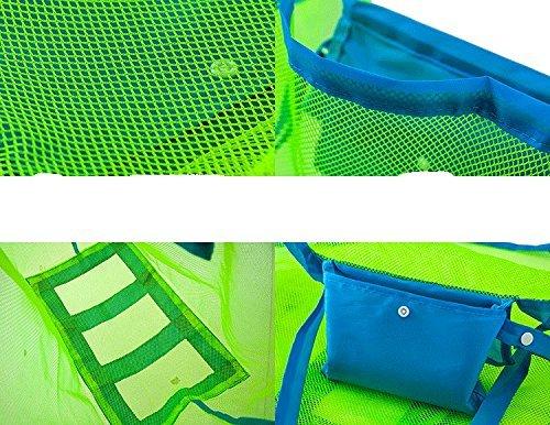 vi. Yo grande sabbia acqua giocattoli away Beach mesh bag ideale per riporvi giocattoli per bambini, palline, spiaggia conchiglie Pouch Tool o altri articoli spiaggia Necessaries Beach Toy Storage Bag Blue