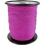 PP Seil Polypropylenseil SH 3mm 100m Farbe Pink Dunkel(3150) Geflochten