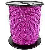 PP Seil Polypropylenseil SH 3mm 100m Farbe Pink Dunkel Geflochten
