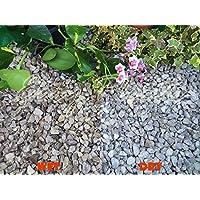 Trucioli di ghiaia pietra di ardesia Deter erbacce da giardino Patio Percorso Plant superficiale–Tortora peakstone (10–20mm), 5 kg