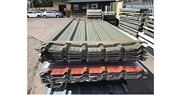 Rhino Steel Cladding 50 X Galvanised Steel Box Profile Roofing Sheets Parcel Of 50 X 3 05m 10 Lengths Mixed Colours Cover Sheets Amazon Co Uk Garden Outdoors