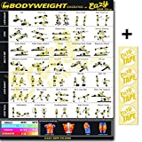 Eazy How To Bodyweight Exercise Workout Poster BIG 51 x 73cm Train Endurance, Tone, Build Strength & Muscle Home Gym Chart