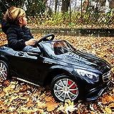 Mercedes-Benz S63 AMG Cabriolet Ride-On 12V Elektro Kinderauto Kinderfahrzeug Kinder Elektroauto (Schwarz) - 9