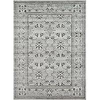 Paese moderno tappeto tradizionale la Jolla contemporaneo, Polipropilene, Gray, 8 x 11