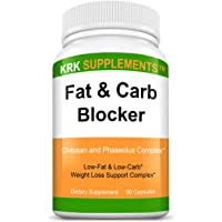 1 Bottle Fat and Carb Blocker with Phaseolus Vulgaris (White Kidney Bean Extract) Chitosan Extreme Diet Pills Weight…