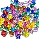 Edelsteine bunt aus Kristallglas Diamant Acryl Piratenschatz Auffüllen der Vase Hochzeit Tischdeko zum Verstreuen Kristalle/Diamanten/Konfetti Lot de 60