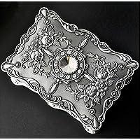 CMZLL Metallo anello antico dei monili della collana Trinket di immagazzinaggio dell'esposizione della scatola della cassa, Gioielli Organizzatore, decorazioni per la casa, scatola di immagazzinaggio - Antico Di Trinket