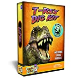 Discover with Dr. Cool T-Rex Dinosaur Dig Kit –Excavate 3 Real Dino Fossils!