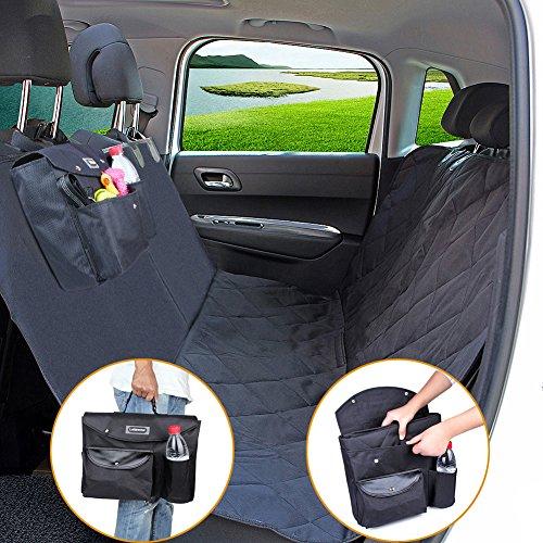 Lalawow 600D Wasserdicht Autositzschoner Autositzdecke für Hunde Katzen Picknickdecke Campingdecke (Schwarz)