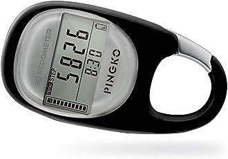 PINGKO 3D Pedometro a moschettone per tracciare L'Attività di Fitness