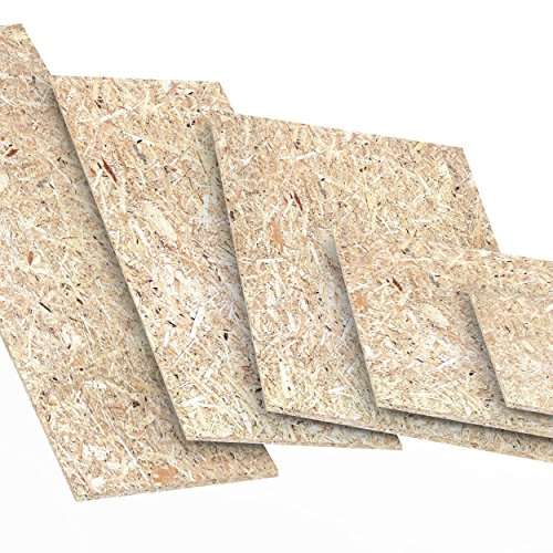 12mm OSB/3 Grobspanplatte Zuschnitt Größe: 200 x 1000 mm Holz Platten Feuchtraum-geeignet nach DIN EN 300 Verlegeplatten Holzwerkstoff-Platten Spanplatten Länge bis 2000mm