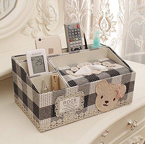 ZZSIccc Europäische Multifunktionale Tissue-Box Wohnzimmer Tablett Kreative Hause Couchtisch Fernbedienung Aufbewahrungsbox Einfache Papier Pumpkasten, A10 (A10-speicher Karte)