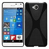 Microsoft Lumia 650 - TPU Schutzhülle X-Style X Design Case Schutz Cover Etui Hülle in Schwarz - RT-Trading