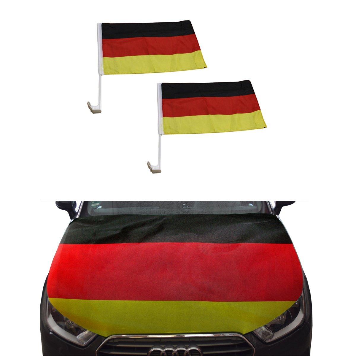 Sonia Originelli Fan-Paket-10 Auto WM Länder Fußball Flaggen Motorhauben Überzieher