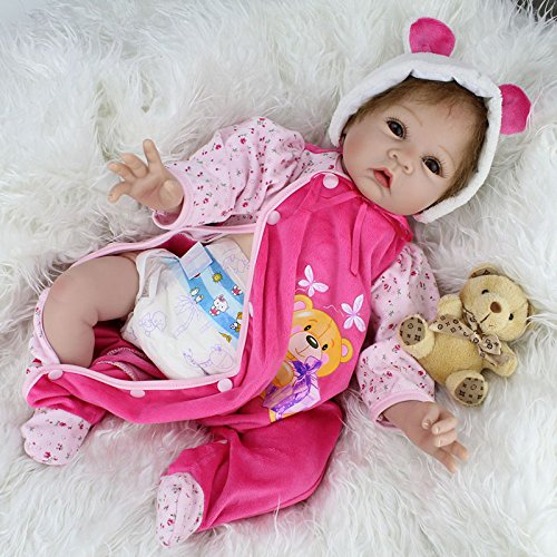 Nicery Reborn Baby Doll Soft Silicone Vinyl 22inch 55cm Magnetic...