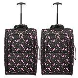 Set di 2 21 '/ 55cm 5 Cities cabina Approvato mano bagaglio leggero sacchetti del carrello per Ryanair / Easyjet