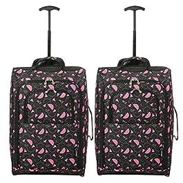 """c9dc6f3d77 Set di 2 21 """"/ 55cm 5 Cities cabina Approvato mano bagaglio leggero sacchetti  del ..."""