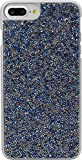 The Kase Paris Coque Bling Strass pour iPhone 7 Plus Bleu Saphir/Argent