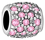 Tuscany Charms Sterling Silver Pink Cubic Zirconia Bead